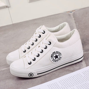 Trainers Wedges Casual Canvas Shoes