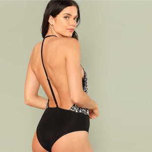 Open Back Sequin Bodysuit