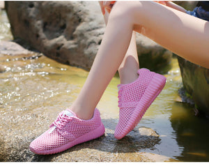 Breathable Mesh Hollow Soft Lightweight Casual Shoes