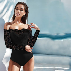 Elegant Off shoulder Lace Bodysuit