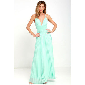 Elegant Sleeveless Maxi Dress