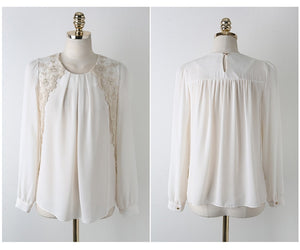 Embroidery Chiffon Shirt