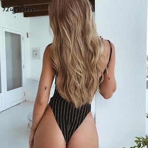 Slash neck bodycon bodysuit