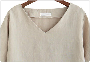 Fashion Cotton Linen blouse