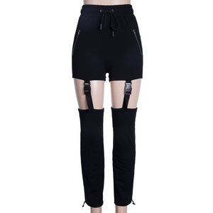 Drawstring Buckle Pencil Pants