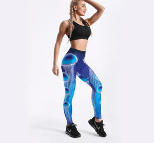 Jellyfish 3D Fantasy Printed Leggings