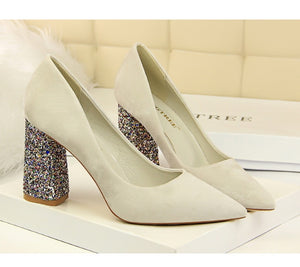 Bling Square Heels
