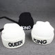 KING QUEEN  Beanies Winter Hat Soft Warm
