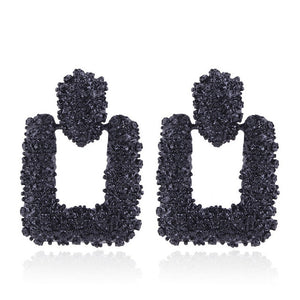 Geometric statement earring