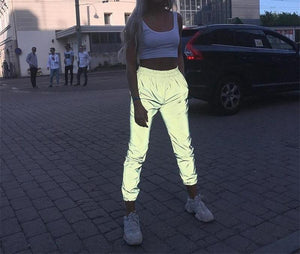 high waist loose reflective leggings