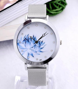 Eiffel Tower Flower Quartz Wristwatch