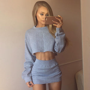 Crop Top And Skirt Set