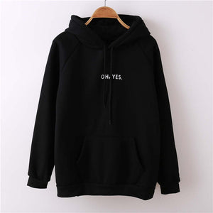Fashion Oh Yes Letter Printing Pullovers