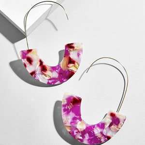 Leopard Grain Multi-Color Earrings