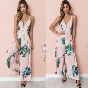 Fashion Sleeveless Floral Jumpsuit