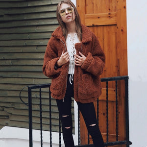 Thick Faux Fur Coat