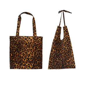 Pure Cotton Leopard Print Bag