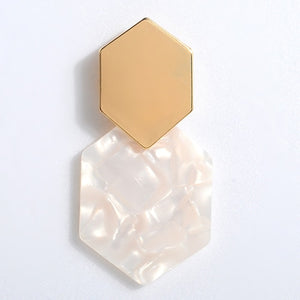 Polygon Drop Earring