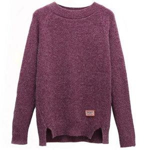 Long Sleeve Solid Pullover