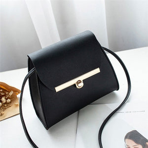 Simple Flap Shoulder Leather Bag