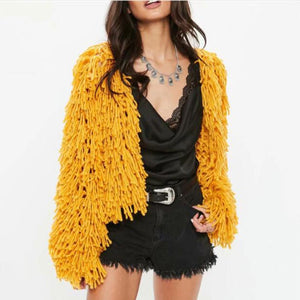Knitted Cardigan Hollow Sweater Coat