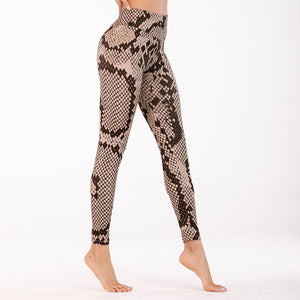 Leopard Snake Pattern Printed Leggings