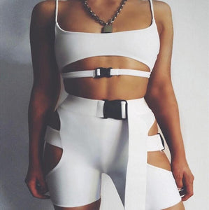 2 Pieces CropTop And Skinny Shorts