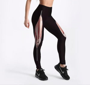 Unique Tearing Muscles Leggings