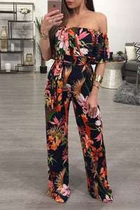 Off Shoulder Summer  Jumpsuit
