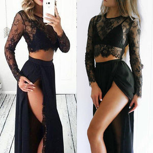 2 Pieces Sexy Lace Dress