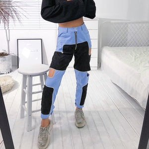 Hollow Out High Waist Pants