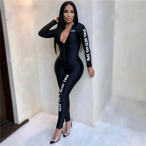 Long Sleeve Bodycon Jumpsuit