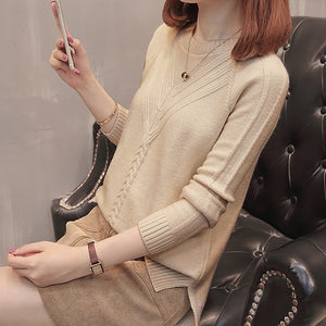 Loose Long Sleeve Solid Pullover