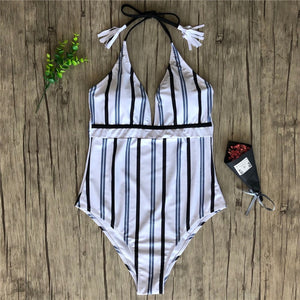 striped hot Bathing suit