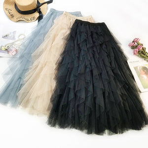 High Waist Ruffles Skirt