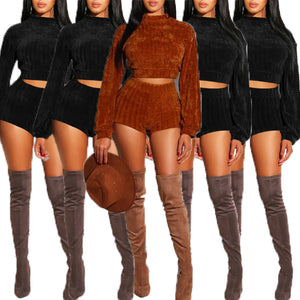 Long Sleeve High Neck 2 piece Set