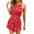 Women's Fashion Sexy Floral Sleeveless Backless Playsuit