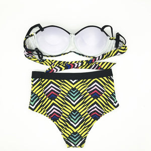 Sexy Retro Print Swimsuit