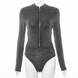 Fashion Long Sleeve Cami Bodysuit
