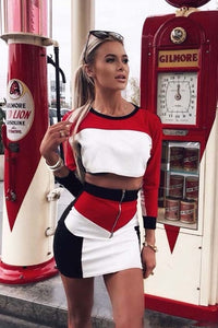 Two Pieces Bodycon Long Sleeve Set