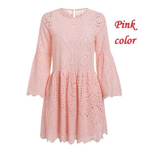 A-line embroidery dress