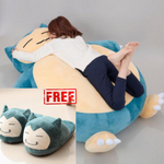 Snorlax Bean Bag + FREE Snorlax Slippers