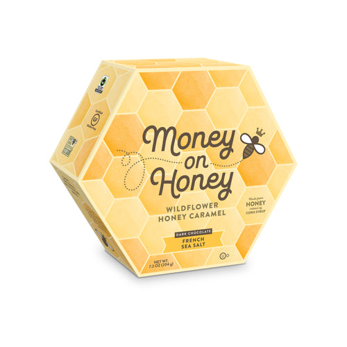 Honeycomb Gift Box <br>Dark Chocolate<br> French Sea Salt