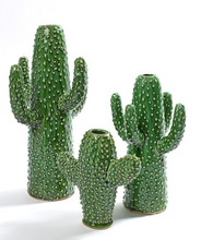 Load image into Gallery viewer, SERAX CERAMIC CACTUS VASE - SMALL - GREEN