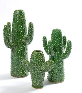 SERAX CERAMIC CACTUS VASE - SMALL - GREEN