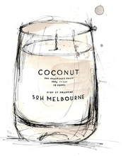 Load image into Gallery viewer, COCONUT & KAFFIR LIME CANDLE