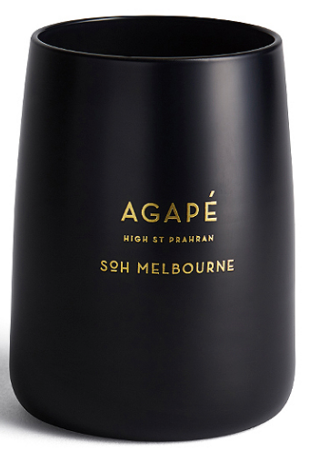 AGAPE MATTE BLACK CANDLE