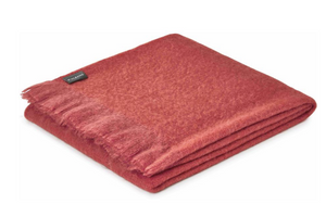 Mohair Coral Throw