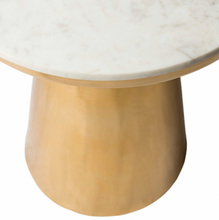 Load image into Gallery viewer, Dale Brass Side Table with Marble