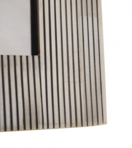 Pin Stripe White & Black Bone Frame